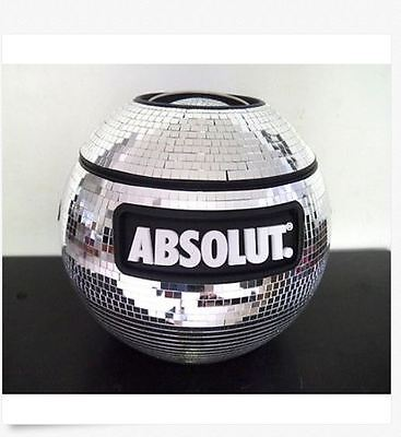 NEW -  New Absolut Vodka Shimmering Disco Ball Cooler Party - Will WOW Guests!!!