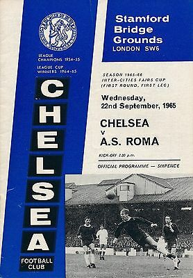 CHELSEA v AS Roma Italy (Fairs Cup) 1965/6