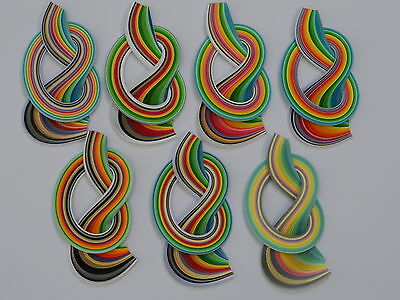 Quilling paper, 2mm, 3mm, 5mm, 10mm. 175 strips , 450mm long