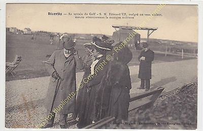 TOP CPA 64200 BIARRITZ S.M. King EDOUARD VII au Golf Edit AU SOUVENIR