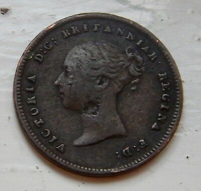 Half Farthing 1843 Victoria Young Head