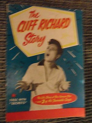 very rare The Cliff Richard Story small book was free with pop magazine SECRETS