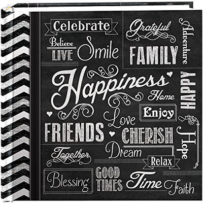"Pioneer Photo Albums 200-Pocket Chalkboard Printed ""Happiness"" Theme Photo Album"