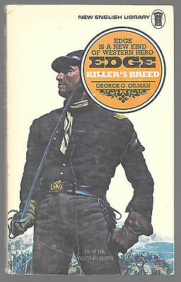 EDGE: KILLER'S BREED by George G. Gilman 1975 Book Edge Western