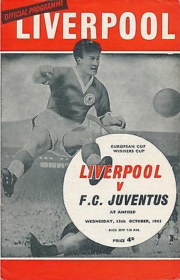LIVERPOOL v Juventus Italy (Cup Winners Cup) 1965/6
