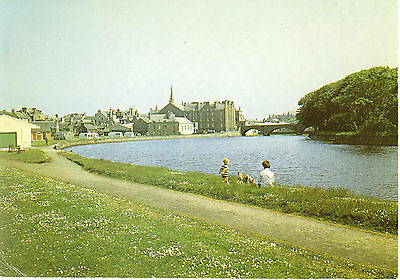 Vintage Postcard, Wick from the River, Caithness, Sutherland, Unposted