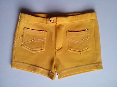 1970's   Yellow Shorts with white stitching