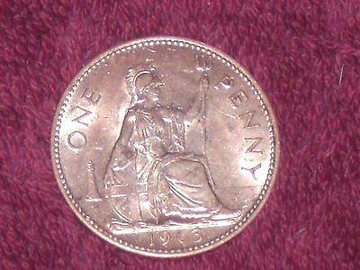 1963 penny, Elizabeth II, top collectable grade,BU with almost full mint lustre.