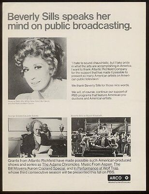 1976 Beverly Sills George Grizzard photo ARCO print ad