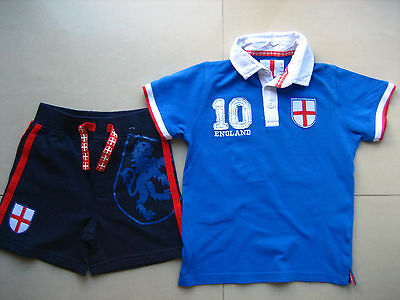 Boys England Polo Rugby Top 4-5 (George) plus free shorts