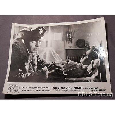 """During One Night (Night of Passion) - Vintage 1960s 10"""" x 8"""" UK Lobby Card - B&W"""