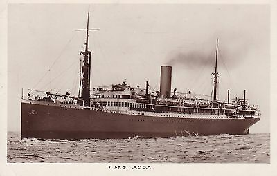 T.m.s. Adda - Real Photo 1932 Plymouth Paquebot And Postage Due