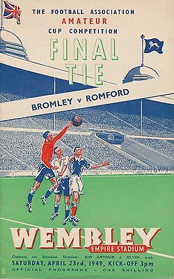 FA AMATEUR CUP FINAL 1949 Bromley v Romford