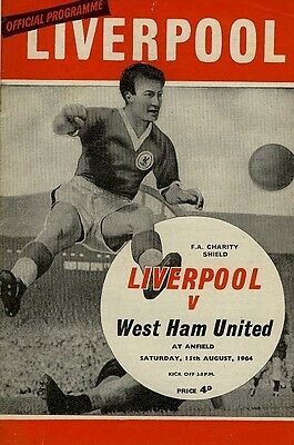 FA CHARITY SHIELD PROGRAMME 1964: Liverpool v West Ham