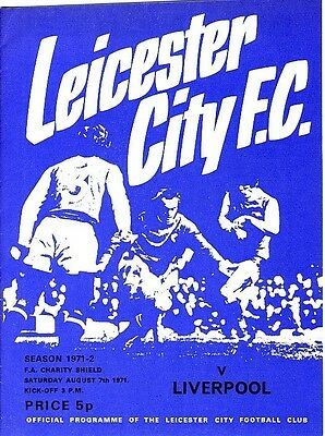 FA CHARITY SHIELD PROGRAMME 1971: Leicester v Liverpool