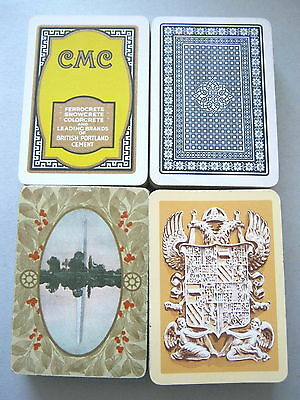 JANUARY SALE 4 DECKS ADVERT WIDE ANTIQUE & VINTAGE PLAYING CARDS 1909 - 1930s