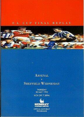 FA CUP FINAL 1993 REPLAY: Arsenal v Sheffield Wednesday