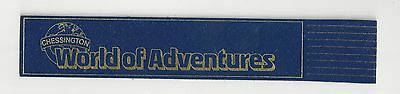 World of Adventures Blue English Leather Bookmark