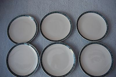 "6 Royal Doulton Moonstone 6"" Tea Plates"