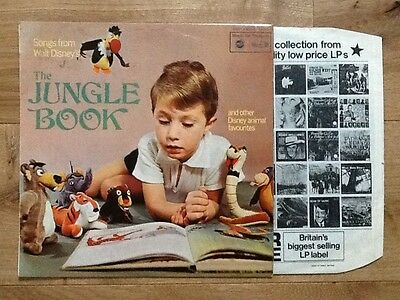 SONGS FROM DISNEY'S THE JUNGLE BOOK.Original 1960s  MFP vinyl lp.