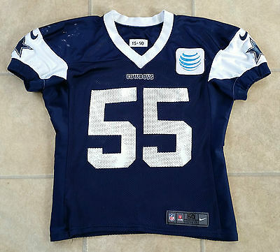 Dallas Cowboys Nfl Player Rolando Mcclain #55 Practice Worn Game Used Jersey