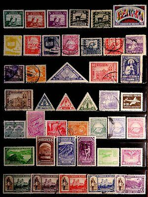 Bolivia: Classic Era To 1940's Stamp Collection