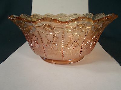 ANTIQUE VINTAGE IRIDESCENT CARNIVAL ART GLASS GAS LAMP SHADE SHADE 4in Fitter