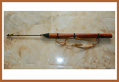 "Whaling Harpoon / Swordfish Dart  49"" Long Brass Dart Tip Nautical Decor"