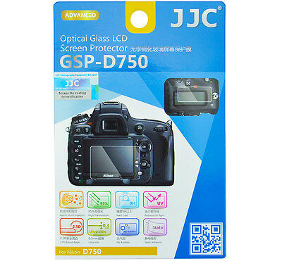 Screen Protector for Nikon D750 0.3mm HD Optical Tempered Glass LCD Monitor JJC