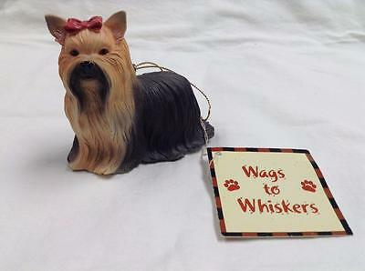 RUSS Berrie & Co. Wags to Whiskers Christmas Ornament YORKIE  Free Shipping