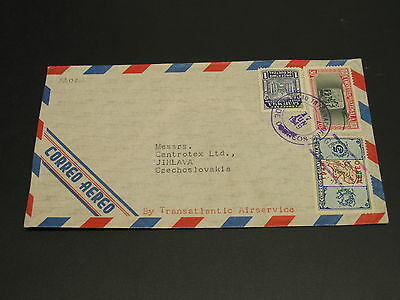 Guatemala 1949 airmail cover to Czechoslovakia *9202
