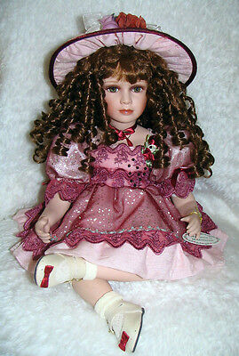 Collectible Sitting Porcelain Doll - Madison - Homeart