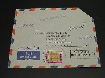 Saudi Arabia 1971 registered airmail cover to Germany *9364