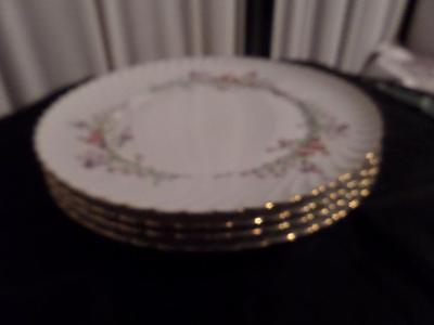 Royal Bayreuth...Germany..US Zone....WEST WIND....1946-1949....4 Dinner Plates