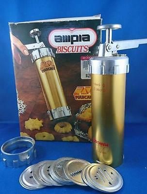 Marcato Ampia Biscuits , Cookie Press with 12 Dies - MADE IN iTALY