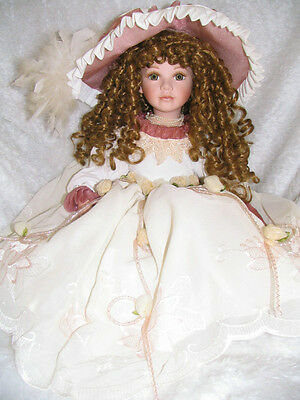 Collectible Sitting Porcelain Doll - Catherine - Homeart
