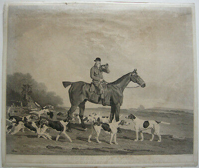Thomas Oldaker Fox hunting Fuchsjagd Pferde Orig Aquatinta 1810 Horse Race