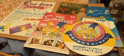 Simpsons job lot prototype promo signs rare French Mexican Homer Bart Pizza hut