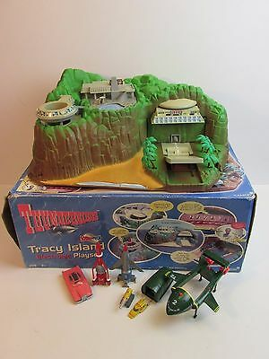 BOXED vintage THUNDERBIRDS TRACY ISLAND soundtech version PLAYSET complete 120