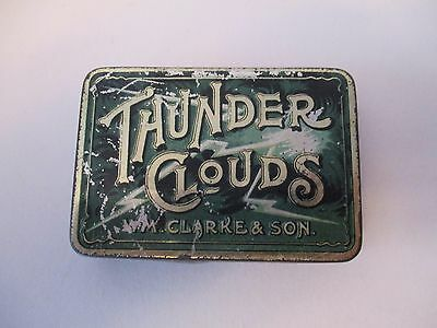Vintage W.m.clark Thunder Clouds Small Tobacco Tin