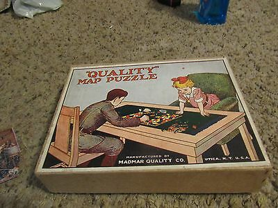 ANTIQUE Madmar Quality Wood Puzzle UTica NY USA