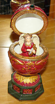 Vintage Royal (Limited Edition) Musical Jeweled Egg (Angel Moves)