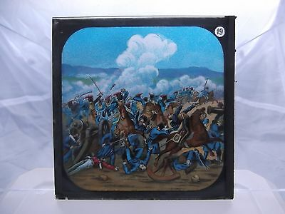 Antique Glass Magic Lantern Slide # Charge of the Light Brigade