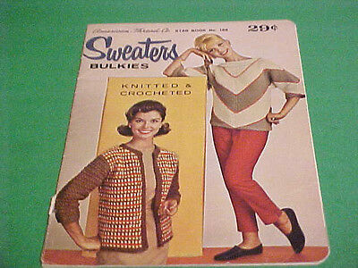 Vintage Knitted & Crocheted Sweaters Bulkies Book Star Book No. 166