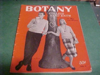 1958 Botany College Hand Knits Book For Men And Women