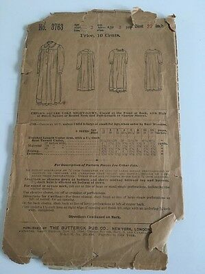 Vintage Butterick Nightgown Pattern 1899