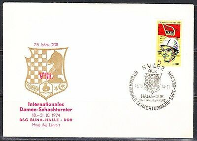 Germany DDR 1974 Chess Tournament Cover Halle Women Tournament