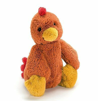 Jellycat Bashful Rooster Small 20cm stuffed animal soft plush toy NEW
