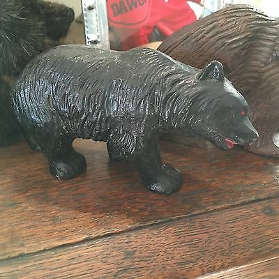 Vintage GRIZZLY BLACK BEAR Figurine Figure Cottage Cabin Very Nice