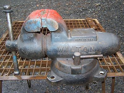 "Large Vintage Wilton Bullet Swivel Vise 4"" Jaws ~ Opens 6 3/4"" Usa 60 Pounds!!"